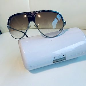 Jimmy Choo silver Aviators
